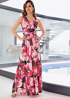 kaliko orchid print prom dress