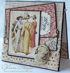 "Scraps of Life--I ran off similar pictures from  my ""print it"" board & made cards like this--very cute!  -- c"