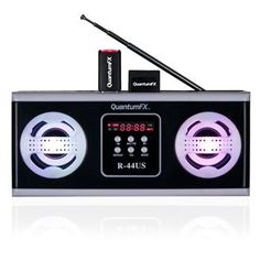 Quantum FX Radio with USB/SD and Built-in Disco Light