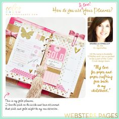 Websters Pages Planners Anabelle O'Malley