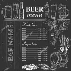 New Free Beer Menu Template Chalkboard Restaurant, Menu Restaurant, Chalkboard Lettering, Chalkboard Designs, Chalkboard Template, Chalk Menu, Herbalife Shake Recipes, Pub Decor, Beer Art