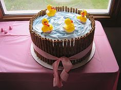 Ducks in a Barrel cake for baby shower