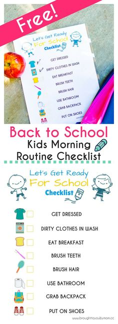 Make morning routines easier with this Let's Get Ready for School - Back to School Printable. It is FREE and fun!