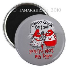 Blood Bank Date Magnet or Button B6 by tamarakraft on Etsy, $3.00
