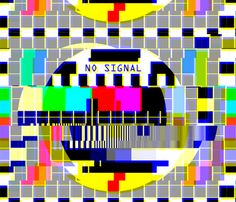 tv television test cards patterns rainbow multi colors colorful signals PM5544 PAL analogue retro tuning reception resolution antenna broadcast pop art media video glitches poor distortion noisy noise static errors broken transmission fabric by raveneve on Spoonflower - custom fabric