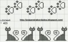 Dog Paws and Cats cross-stitch