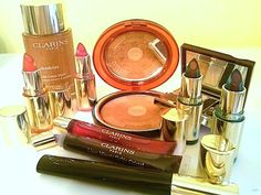 Makeup Review, Swatches: Clarins Splendours Summer 2013 Collection -- Wonder Mascara, Instant Smooth Crystal Lip Gel, Balm, Bronzing Compact, Shimmer Oil, Eye Liner