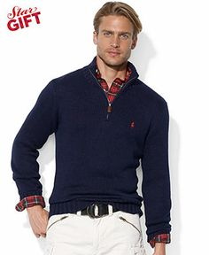 Polo Ralph Lauren Sweater, Half-Zip Mock Neck High-Twist Cotton Pullover -