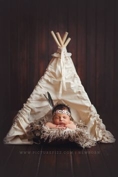 native american newborn setup teepee