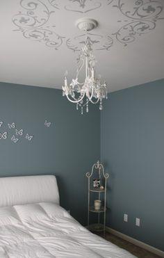 Decorar paredes con pintura de pizarra y tiza decoraci n for Vinilo techo habitacion