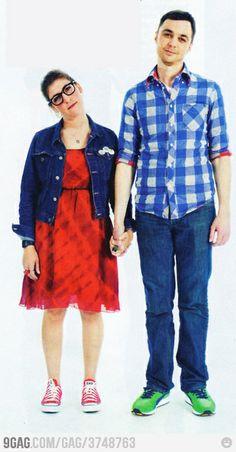 One of the best couples  Sheldon Cooper-Amy Farrah Fowler  (aka: Jim Parsons-Mayim Bialik)