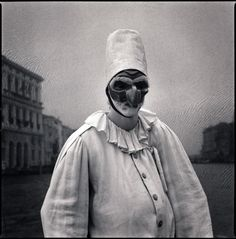 Marco Andretta as Pulcinetta by Hiroshi Watanabe - Susan Spiritus Gallery Georges Braque, Hiroshi Watanabe, Fine Art Photography, Portrait Photography, Creepy Images, Susan Sontag, Creepy Clown, Gelatin Silver Print, Japanese Artists