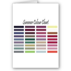 Summer Color Chart Card by Angel86