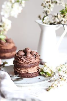 Mini Cakes, Cheesecake, Food And Drink, Cupcakes, Easter, Sweets, Baking, Desserts, Recipes