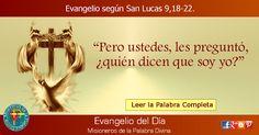 MISIONEROS DE LA PALABRA DIVINA: EVANGELIO - SAN LUCAS 9,18-22