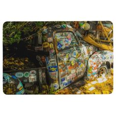 Key West is Art Old Pickup Truck Floor Mat - photos gifts image diy customize gift idea