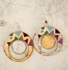 Loli Hand painted earrings Sterling silver by vickygonart on Etsy, $22.00