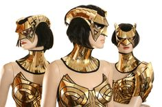 edc cyborg goggles with horns futuristic sci fi cyber by divamp, $225.00