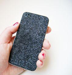 hippanonymous: DIY Glitter iPhone Skin