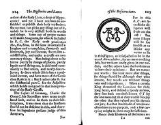 Michael Maier - Deux pages de l'édition anglaise la Themis Aurea. The Laws of the Fraternity of the Rosie Crosse (Londres, 1656)