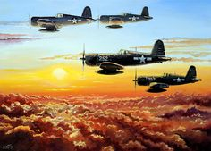 Corsair Painting - Hellions by Charles Taylor                                                                                                                                                      More