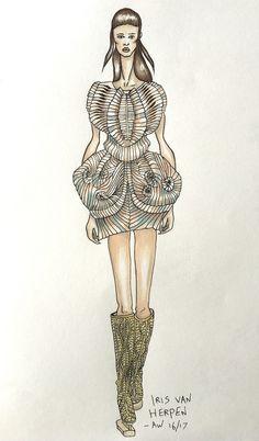 IRIS VAN HERPEN AW 16/17 Fashion Illustration by Arianne Scott