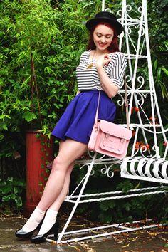 Royal blue and pastel pink.