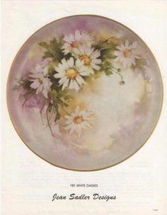 Jean Sadler China Painting Study 81 White Daisies | eBay