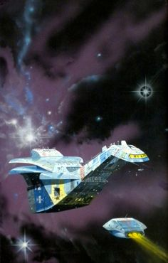 Angus McKie - cover for Halcyon Drift by Brian Stableford in Hooded Swan series) Concept Ships, Concept Art, Stargate, Nave Enterprise, Perry Rhodan, Sci Fi Spaceships, 70s Sci Fi Art, Spaceship Art, Sci Fi Ships