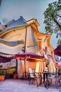 I think i might get a little confused if I lived here. Really cool, though!  Crooked House, Sopot, Poland