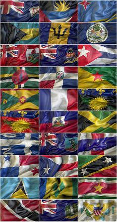 Caribbean Waving flags by Giordano Aita Graphics on Iptv Sports, List Of Flags, St Lucia Flag, Caribbean Flags, Grenadines, Printable Planner, St Kitts, Grenada, Trinidad And Tobago
