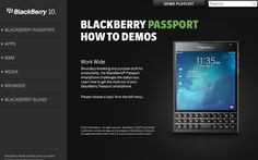 BlackBerry Passport Demo disponible #CBBNews