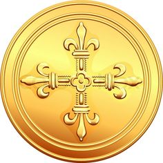Buy Vector gold coin French ecu by Kavalenkava on GraphicRiver. Old French gold coin with the image of a flowering crowns Cross. See coins various countries in my portfolio: More im. Dog Vector, Free Vector Images, Vector Free, Black Dogs Breeds, Pirate Coins, French Coins, Buy Gold And Silver, Dog Icon, Smiling Dogs