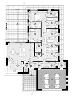 DOM.PL™ - Projekt domu CPT HomeKONCEPT-68 CE - DOM CP1-82 - gotowy koszt budowy Grand Homes, Small House Design, Planer, House Plans, Pergola, Sweet Home, Floor Plans, Cottage, Exterior