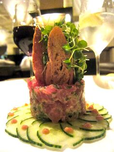 Yellowfin Tuna tartar @Gotham B & G, NYC. The dish that launched a million copies. Classic Portale.