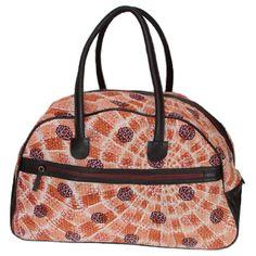 Kantha Weekender Travel Bag - Coralburst (fair trade)