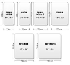Image result for standard sizes of bed