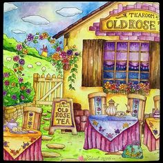 Old Rose Tea @ Romantic Country #coloringbookforadult #coloring…