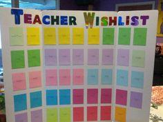 Classroom Wish List Ideas : Scholastic book fair fiesta teachers wishlist chart love