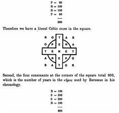 The Next Level :: View topic - Pyramid CAPSTONE = Rodin VBM = 5x5 SATOR SQUARE
