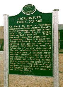Jacksonburg Public Square historic marker