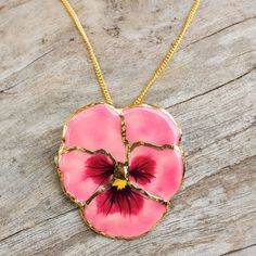 NOVICA Gold Plated Natural Flower Pendant Necklace (485 ZAR) ❤ liked on Polyvore featuring jewelry, necklaces, accessories, brass, pendant, blossom necklace, chain necklace, flower necklace, novica jewelry and flower jewelry