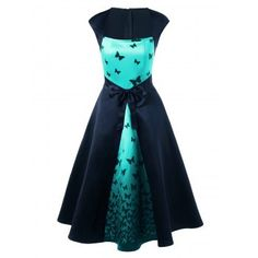 SHARE & Get it FREE | Bowknot Embellished Butterfly Print Square Neck DressFor Fashion Lovers only:80,000+ Items·FREE SHIPPING Join Dresslily: Get YOUR $50 NOW!