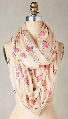 Kids Scarf Flamingo Art Pink Scarves Winter Warm Shawl Wrap For Girls