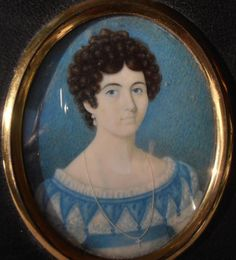 LOVELY REGENCY PORTRAIT MINIATURE YOUNG LADY GRACE BOWRIN with family details in Art, Paintings, Antique (Pre-1900)   eBay!