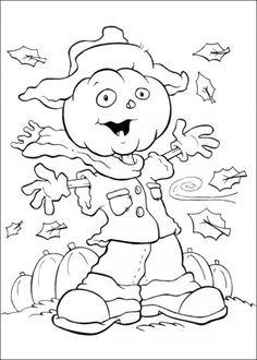 Funschool Halloween Coloring Pages for Kids