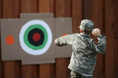 Army party games - water balloon target practice