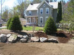 Land Design Inc. portfolio of Albany NY area landscape design projects. Hardscape Design, Yard Landscaping, Main Street, Portfolio Design, Design Projects, Stepping Stones, Garden Design, Exterior, Landscape