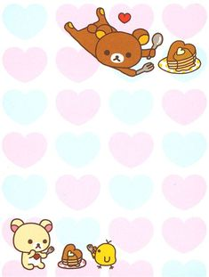 Rilakkuma mini Memo Pad Korilakkuma bear heart kawaii 3