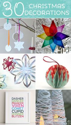 30 homemade Christmas ornaments and decorations to make this festive season!